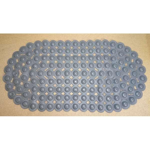 Antirutschmatte Badematte Fußmatte Dusch Vorleger 66x34cm grau Gummi rutschfest