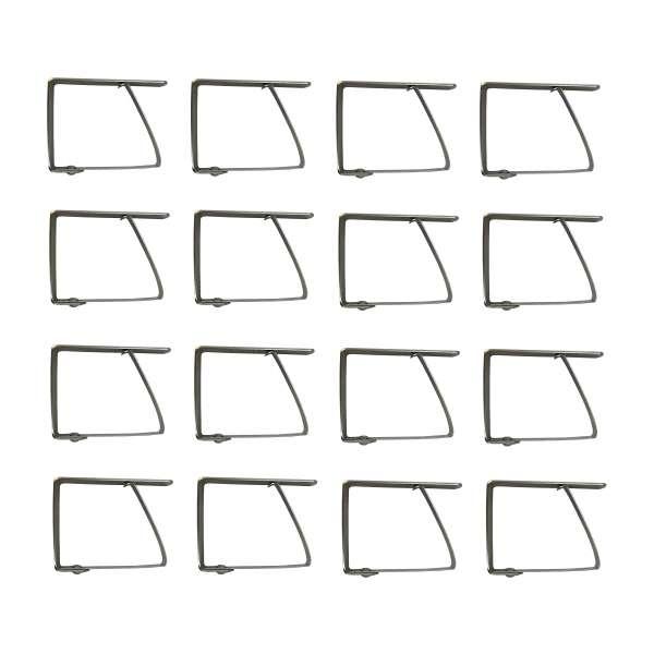 16x Edelstahl Tischtuchklammern Tischdecken Klammer Halter rostfrei Clips stabil