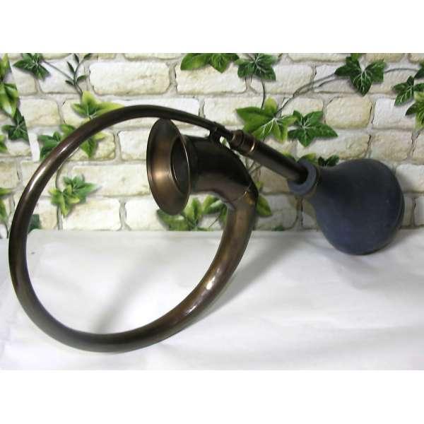Nostalgie Ballhupe Taxi Horn ca.37cm Messing brüniert Auto Oldtimer Hupe Tröte Antik-Stil