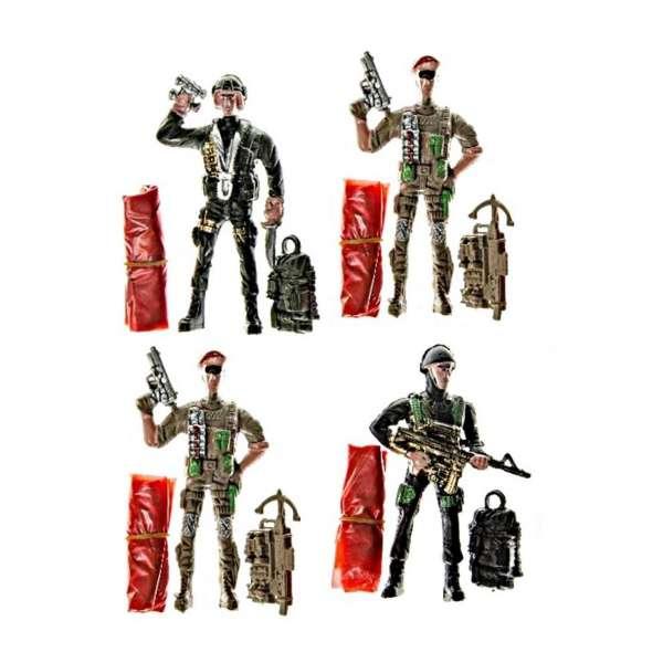 4x Fallschirmspringer Soldat Spielfigur Kinder Mitgebsel Tombola Geburtstag Party