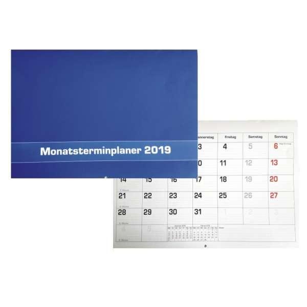 Monatsplaner 2019 Wand- oder Tischkalender 29,7x21cm Kalender Büro Termin Planer