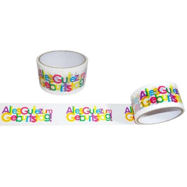 2x Klebeband Alles gute zum Geburtstag Tape Paketklebeband Dekoband 20m x48mm