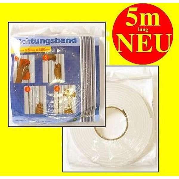 Dichtungsband Kompriband 5m lang 15mm breit Fensterdichtung Türdichtung