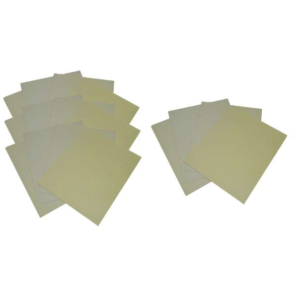 40 Blatt Schleifpapier Schmirgelpapier 60,100,150,240er Körnung gemischt im Set