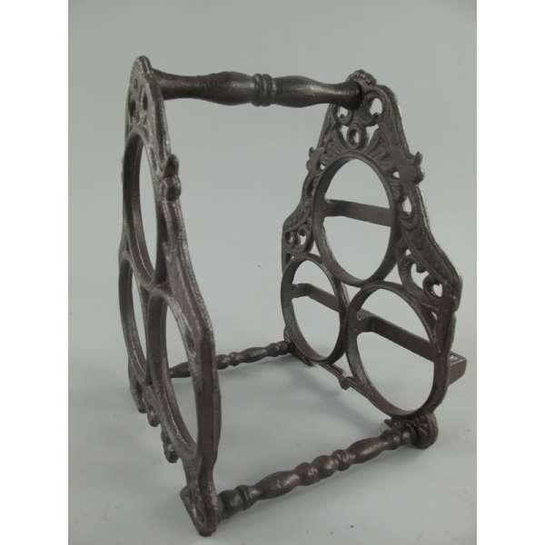 Weinregal Flaschenregal Weinständer Antik Eisen für 3 Flaschen Vintage Design
