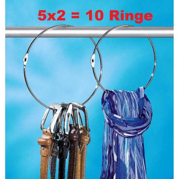 Gürtelringe 10er Set Gürtelhalter Schalring Kravattenbügel Bügel Schalhalter
