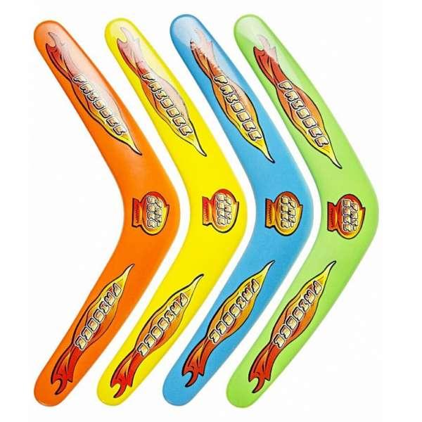 4x Boomerang Bumerang 30cm Kinder Geburtstag Spielzeug Mitgebsel Tombola bunt