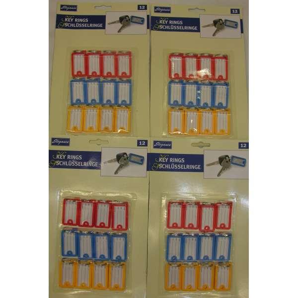 48x Schlüssel Schilder Anhänger Etikett Adressdaten Kofferanhänger
