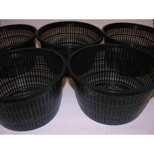 5x Wasserpflanzen-Korb rund 22cm Pflanzenkorb Teichpflanzen Gartenteich