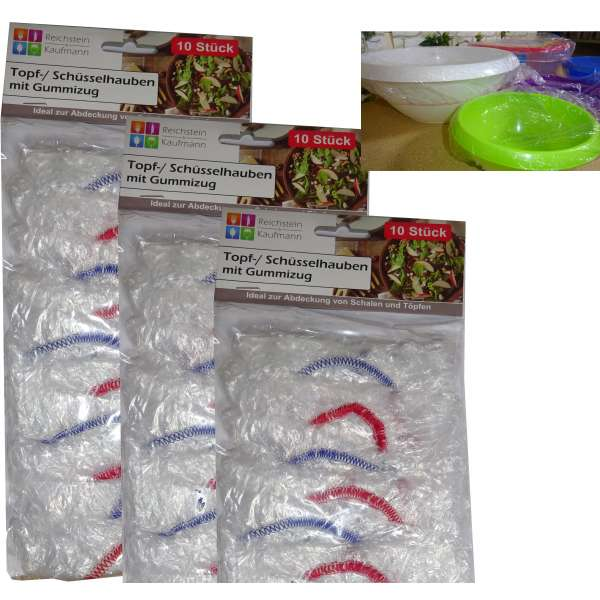 30er Set Topf- und Schüsselhauben Fliegenschutz Topfhauben Abdeckung mit Gummizug
