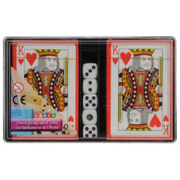 2x 54 Blatt Skatkarten mit 5 Würfel Kartenspiel Spielkarten französisches Blatt