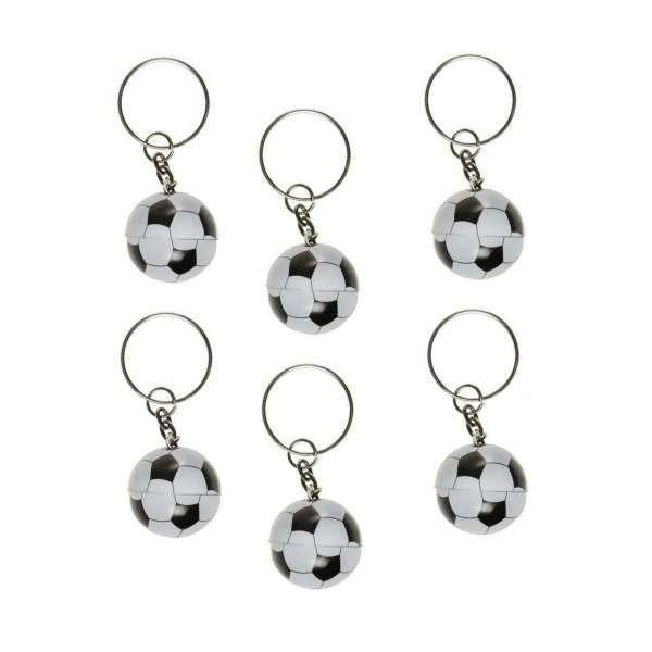 6x Schlüsselanhänger Fußball Ball Sport Anhänger Party Tombola Mitgebsel