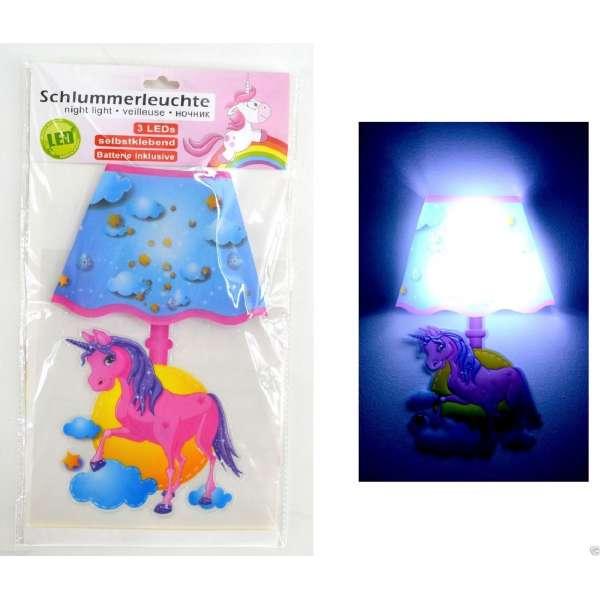 LED Nachtlicht Einhorn Unicorn Nachtleuchte Schlummerlicht Wandleuchte Kinder Lampe
