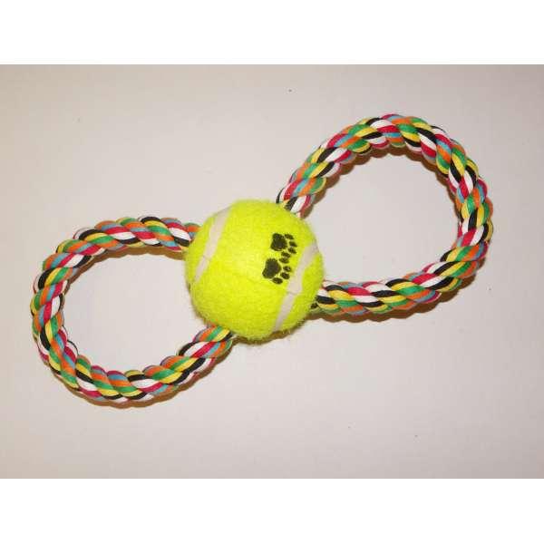 Hundespielzeug Schlaufe Tennisball Ziespielzeug Spielzeug Ball Hund robust stabil