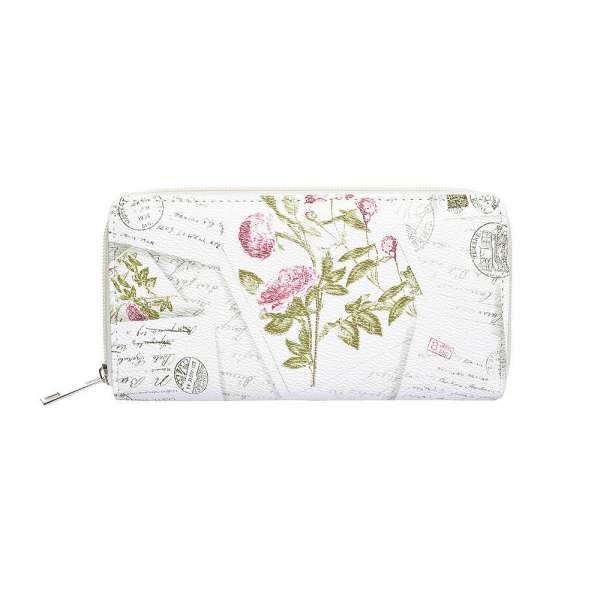 Damen Geldbörse XL Liebesbrief Rose Portmonee Geldbeutel Langbörse Brieftasche