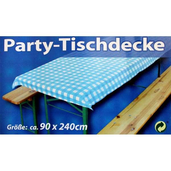 Party-Tischdecke Blau Weiß Bierzelt Garnitur Garten Bierbank Biertisch Fest