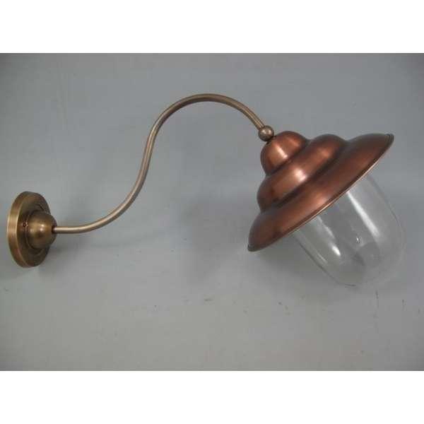 Nostalgische Wandlampe Kupfer Messing Aussenleuchte Antik-Stil Retro Industrial Design
