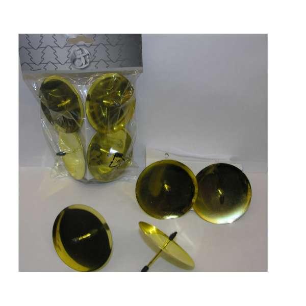 4x Kerzenhalter Adventskranzstecker 60mm gold Kerzenteller Adventskranz basteln