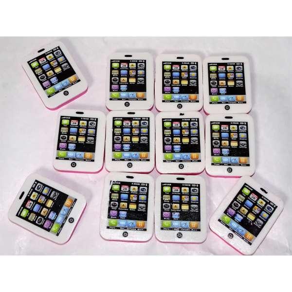 12x Mini Radiergummi Smartphone Handy Radierer Mitgebsel Kindergeburtstag Party Tombola