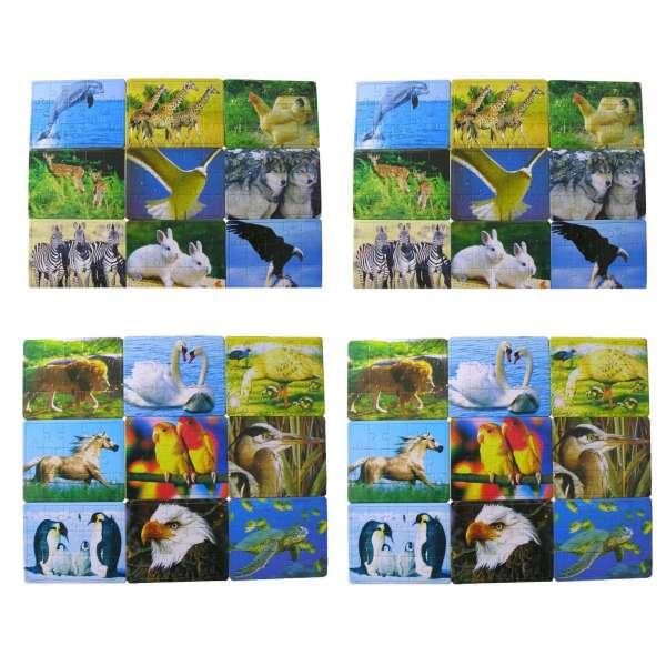 36x Mini Puzzles Tiere Kinder Geduldsspiel Mitgebsel Geburtstag Tombola Party
