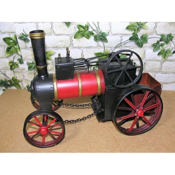Großes Blechauto Dampfwalze 30cm Retro Antik Stil Modell Oldtimer Walze nostalgische Deko