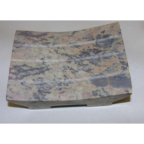Seifenschale Seifen-Ablage aus Natur Seifenstein poliert 10x7,5cm Handarbeit
