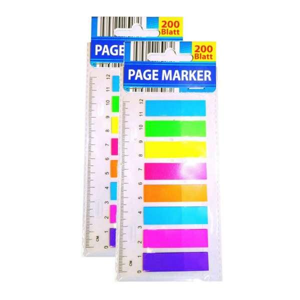 400 Haftmarker Page Marker Haftstreifen Notizzettel Markierstreifen Lesezeichen