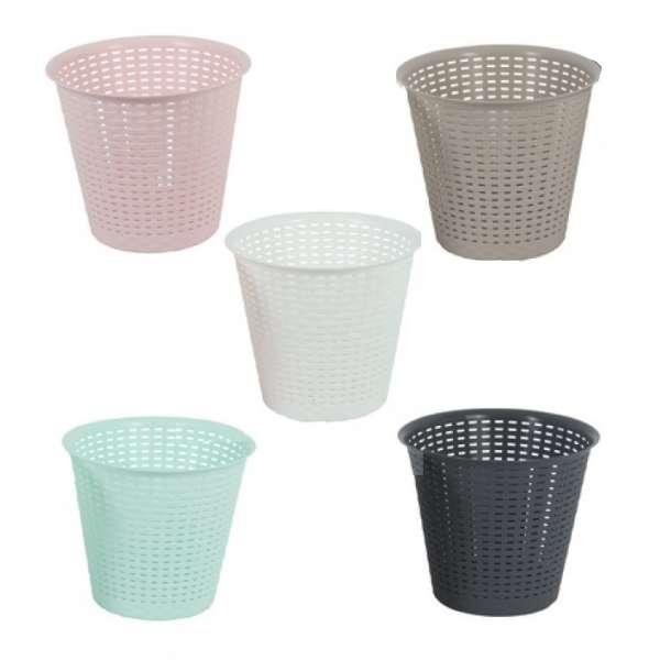 Papierkorb aus Kunststoff Retro Papiereimer Abfalleimer Eimer Mülleimer