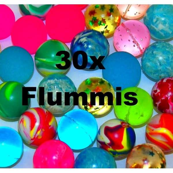 30x bunte Flummis Gummiball Hüpfball Springball Flummi Tombola Mitgebsel Party