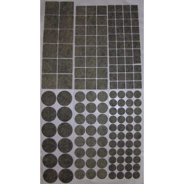 160 Filzgleiter selbstklebend Grau meliert Klebe-Filz Möbelgleiter 6 Größen