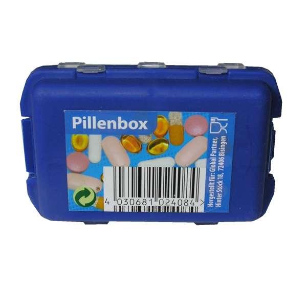 kleine TABLETTENDOSE PILLENDOSE Pillenbox Tablettenbox Medikamenten Pocket Box