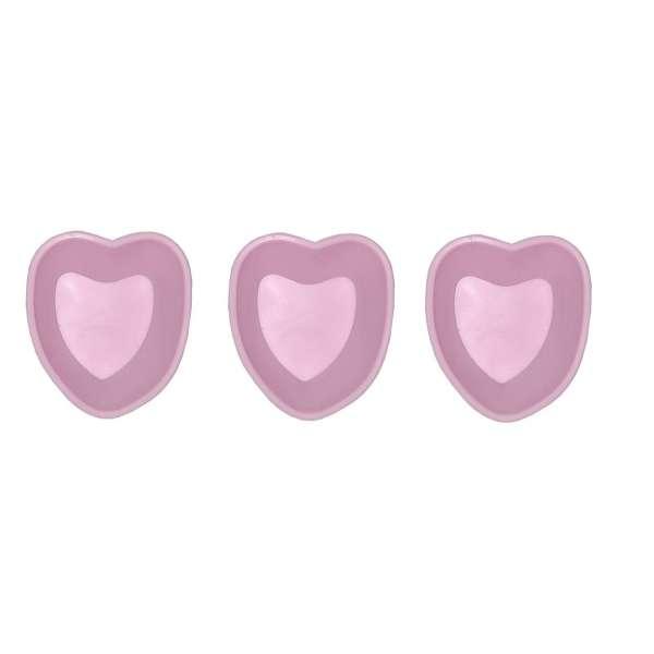 3er Set Mini Silikon Backform Herz pink Kuchenform Cupcake Form Muffin Kinder Party