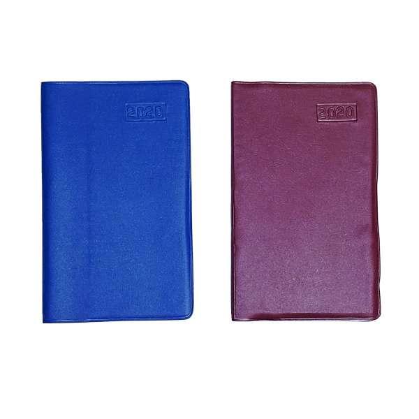 Taschenkalender Kalender 2020 Farbwahl blau weinrot Organizer Business