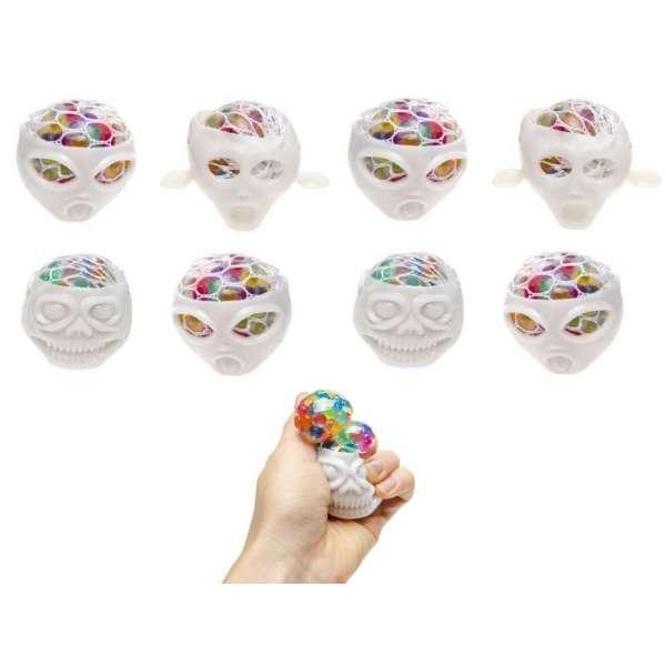 8er Set Quetschball Monster Anti Stressball Knautschball Stress Knet Ball Netz bunt