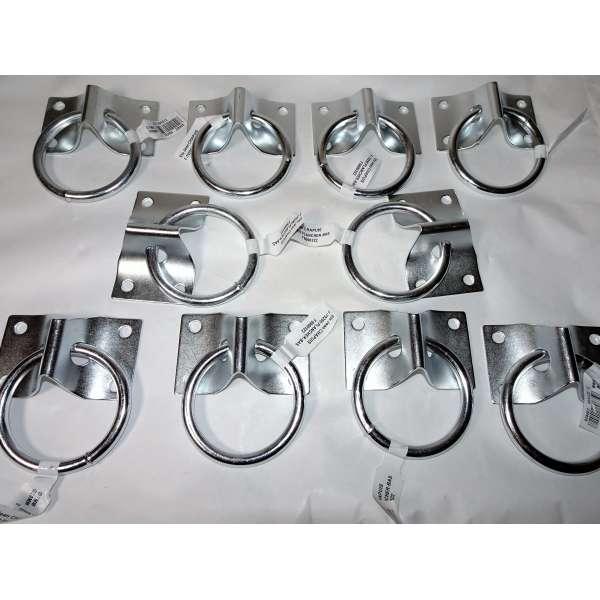 10x Chapuis Zurr-Öse 5cm Augplatte Edelstahl Verzurren Ringplatte 4x4,5cm Wirbel Bügel
