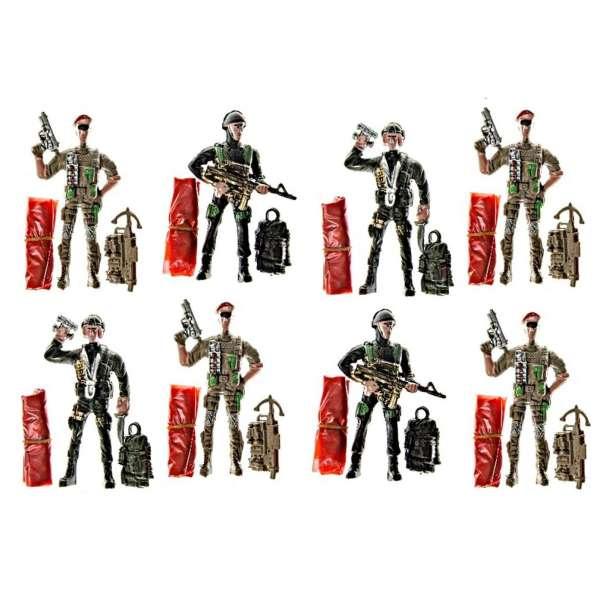 8x Fallschirmspringer Soldat Spielfigur Kinder Mitgebsel Tombola Geburtstag Party