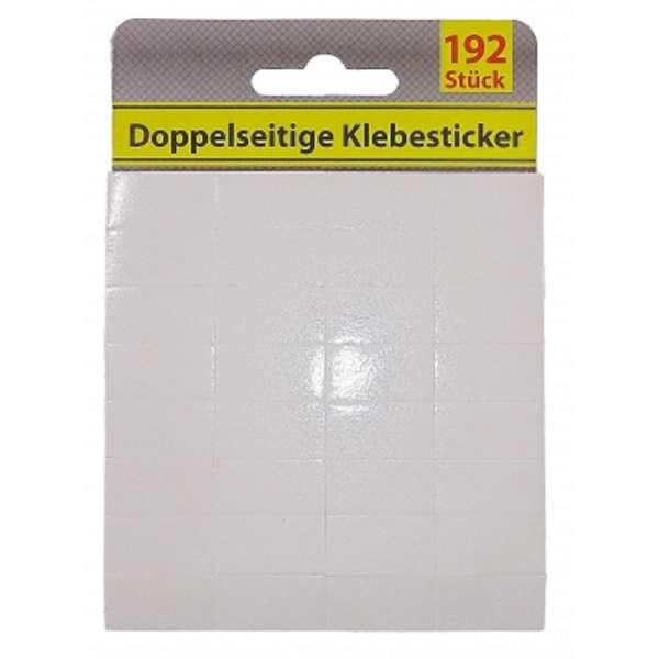192 Klebepads doppelseitig Klebeband flexibel stark klebend Kleber weiß je 26x13mm