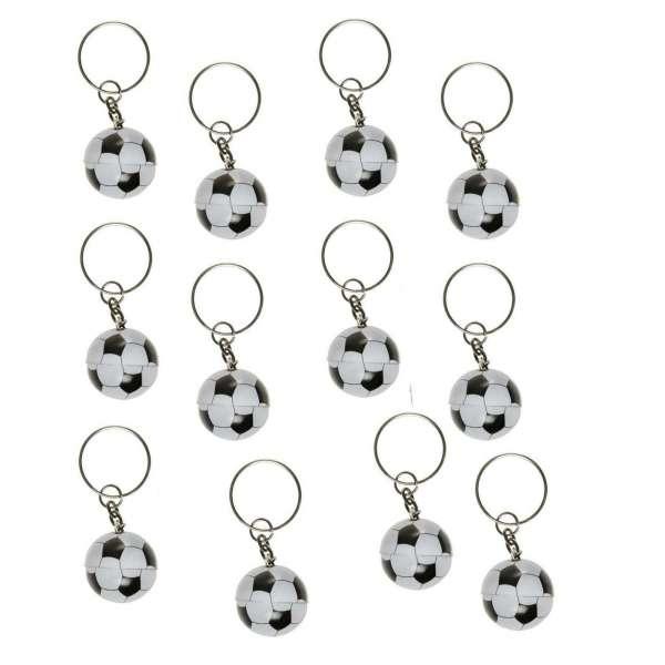 12x Schlüsselanhänger Fußball Ball Sport Anhänger Party Tombola Mitgebsel