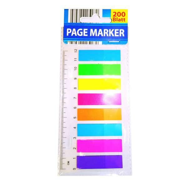 200 Haftmarker Page Marker Haftstreifen Notizzettel Markierstreifen Lesezeichen