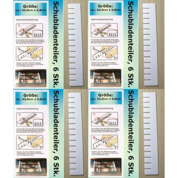 24x Schubladenteiler Schubladen Einteiler Fach Ordnungssystem Fachteiler weiß