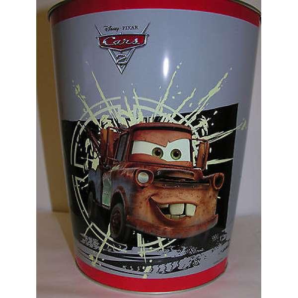 Papierkorb Abfallkorb Disney Cars FINN McMISSILE + HOOK Metall Abfall Eimer NEU