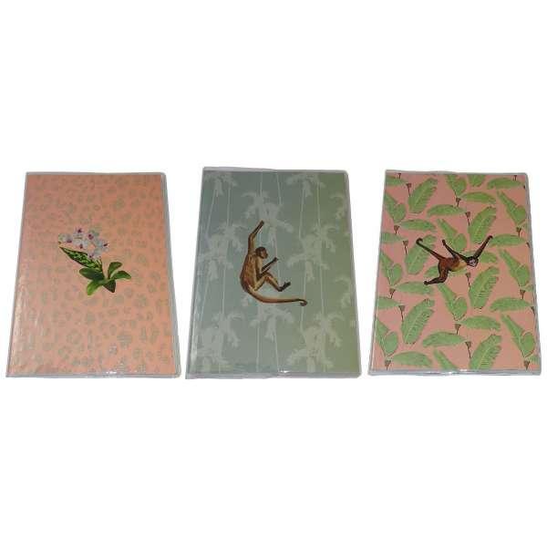 3er Set Notizbuch Notebook Tagebuch Diary 80 Blatt DIN A5 Büro Schule Notizen