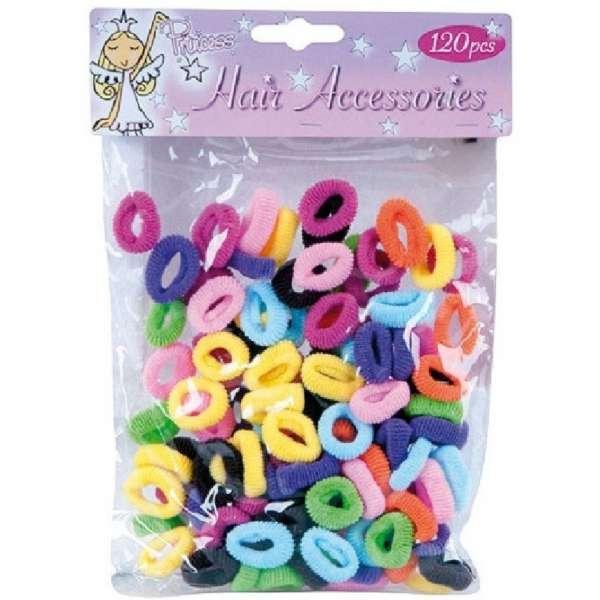 120er Pack bunte Haargummis Frottee Haarbänder Kinder Mädchen Wellness