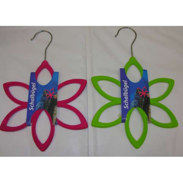 Schalbügel Blume grün oder pink Schalhalter Schalhänger Tuchhalter Bügel