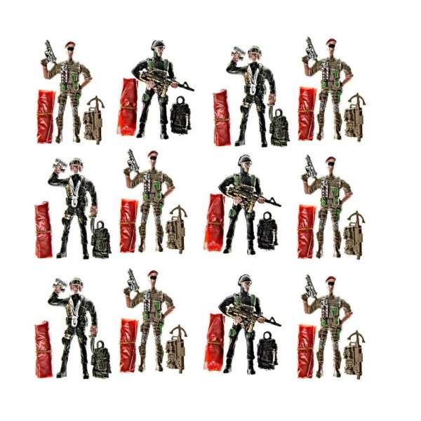 12x Fallschirmspringer Soldat Spielfigur Kinder Mitgebsel Tombola Geburtstag Party