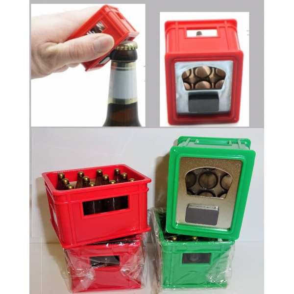4x Flaschenöffner Bierkasten mit Magnet Kapselheber Kronkorken Öffner Kühlschrank