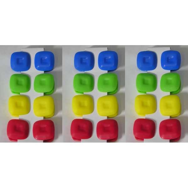 24er Set Magnet Klammern Memohalter Clips bunt Notiz Zettelhalter Kühlschrank Magnete