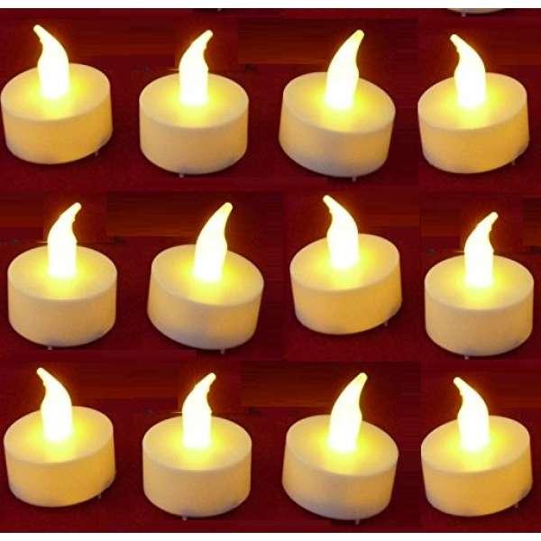 12x LED Teelicht ElektrischeTeelichter Flackernde Teelichter Flammenlose Kerze Batterie