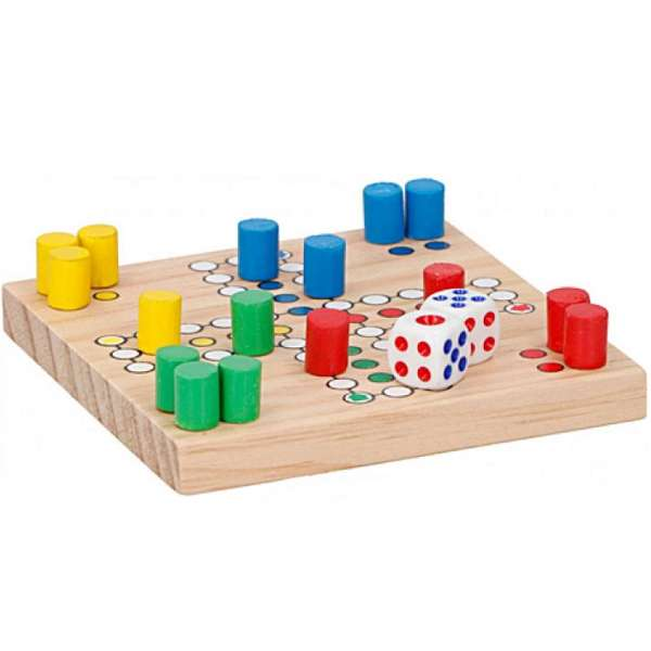 Brettspiel Reise Spiel aus Holz Gesellschaftsspiel mit Würfel Spaß Unterhaltung