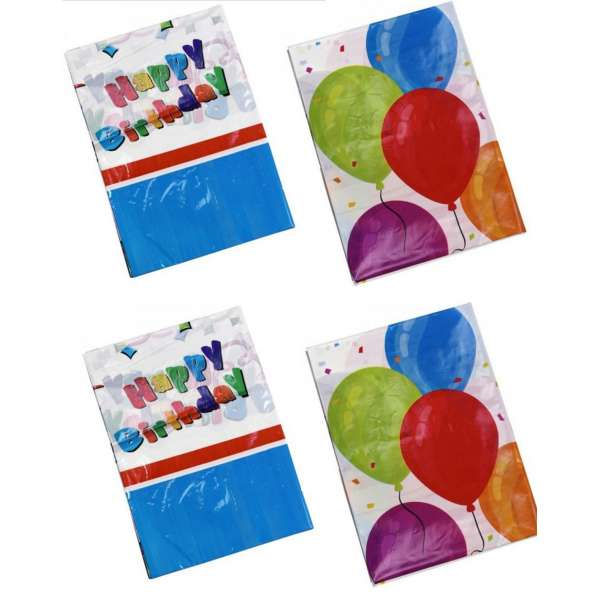4x Party-Tischdecke Luftballons und Geburtstag abwaschbar 130x180cm Kinder